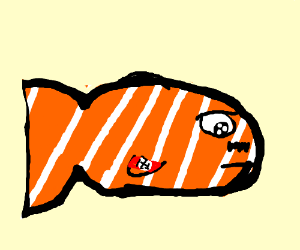 clownfish with hitler mustache