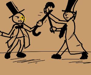 Gentlemen dueling