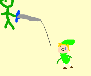 A monster took the master sword from Link
