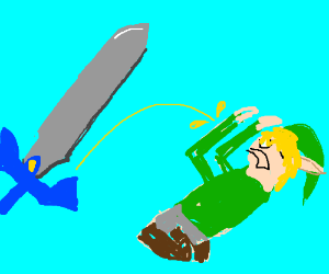 Sword Pees on Link