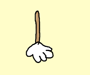 Mop with a white hand instead of mop bit