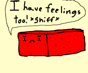 bricks also have feelings too