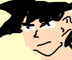 Goku's face