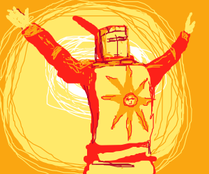 Solaire Of Astora Sun Praise the Sun! - Draw...
