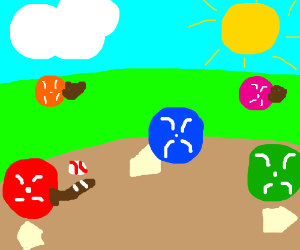 buttons playing b-ball