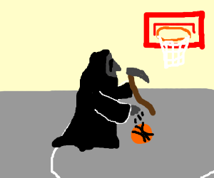 grim reapers playing basket ball