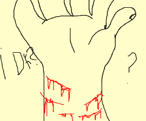 bleeding wrist drawing - 300×250