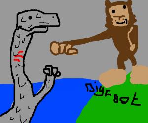 Nessie and Bigfoot brofist