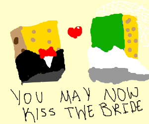 Two sponges get married
