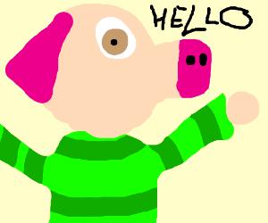 peppa pig saying hello