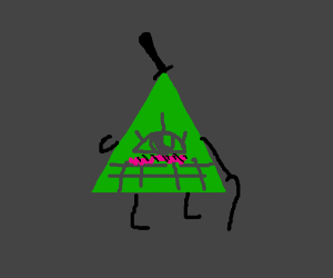 Bill Ciphers Final Form Ilumminati Drawception