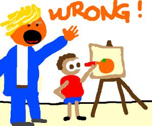 Teacher dashes little boy's artistic dreams