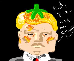trump accusing a kid thats drawing an orange??