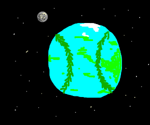 earth but it looks like a baseball