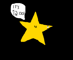star saying its 12:00!