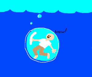 The joys of traveling in an underwater bubble