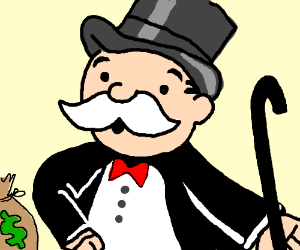 Rich Uncle Pennybags Monopoly Man Drawception