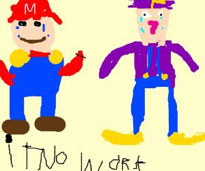 Mario wants a divorce from Waluigi