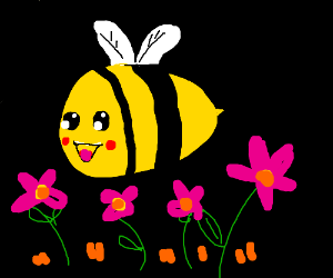 A very happy bee