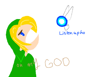 Navi annoys Link