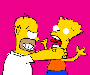 Homer choking bert