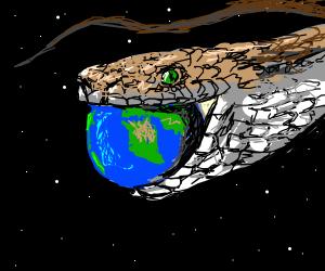 Snake eats the world