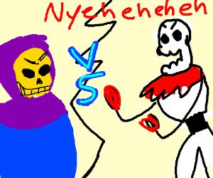 Papyrus vs Skeletor - Drawception