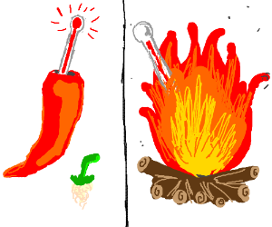 Chili peppers are hotter than fire: confirmed