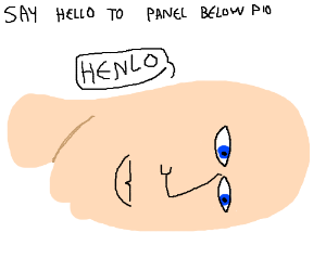 Say hello to the panel below you! (PIO)