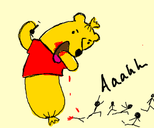 Winnie the poo dildo think, that
