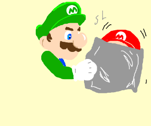 Green Mario has ended the suffering...