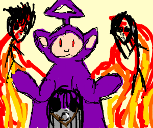 purple teletubby summons death metal band