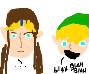 Mute Zelda and talkative Link