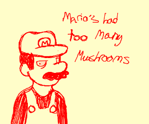 Mario is fckn high 0.o
