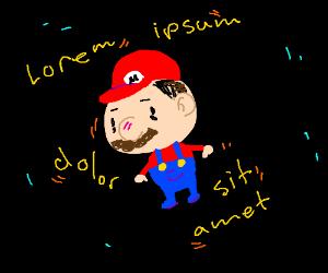 Mario speaking gibberish
