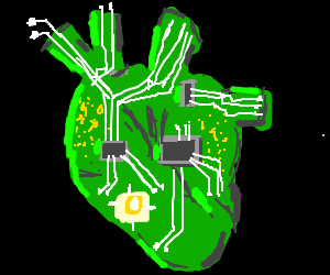 the right atrium of robot heart is unmuted