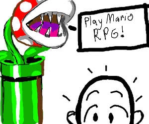 Parana plant wants people to play mario rpg