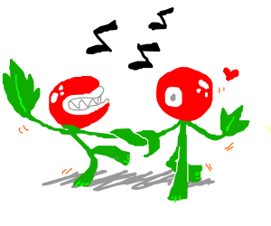 Cute plant monsters dancing