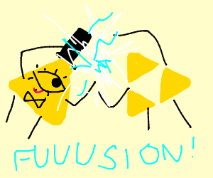 Bill Cypher fused with the triforce