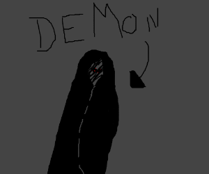 creepy demon