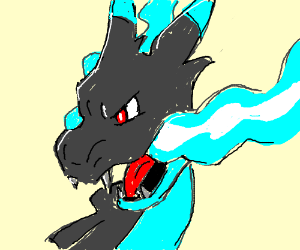 That one mega charizard that was blue-ish