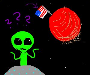 Aliens confused Mars being colonized by USA
