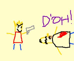 Bort gets revenge on homer
