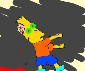 uhhh bart simpson the walking dead edition