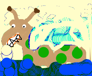 Loch Ness Monster is happy