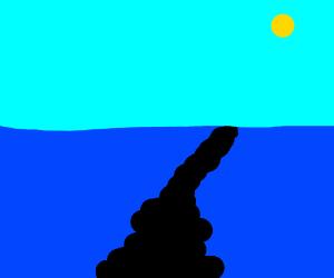 An oil streak