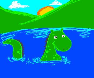 lake with a lagoon monster