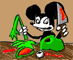 Rogue Mickey Mouse Dissects Kermit The Frog
