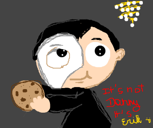 Danny Phantom holding a cookie