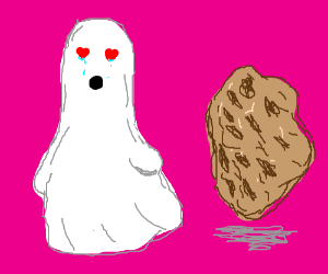 Ghost love cookie